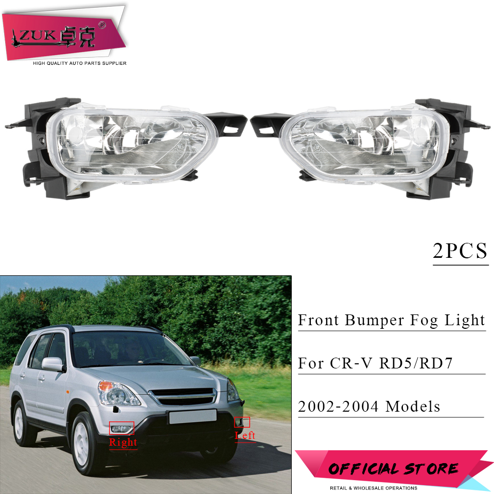 Case For Honda Crv Fog Light 2002 2003 2004 Halogen Lamp Car Cr V Wire Harness Zuk 2pcs Front Bumper Foglights Foglamp
