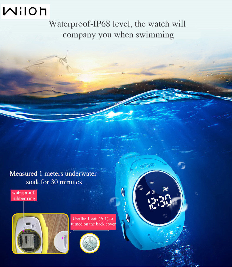 DHL GPS Tracker Watch for Kids Safe GPS Watch waterproof Q520S smart Wristwatch SOS Call Finder