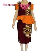 new autumn african skirt suits Dashiki for women elegant lady skirt set femme Bazin Riche cotton set plus size two pieces WYT188