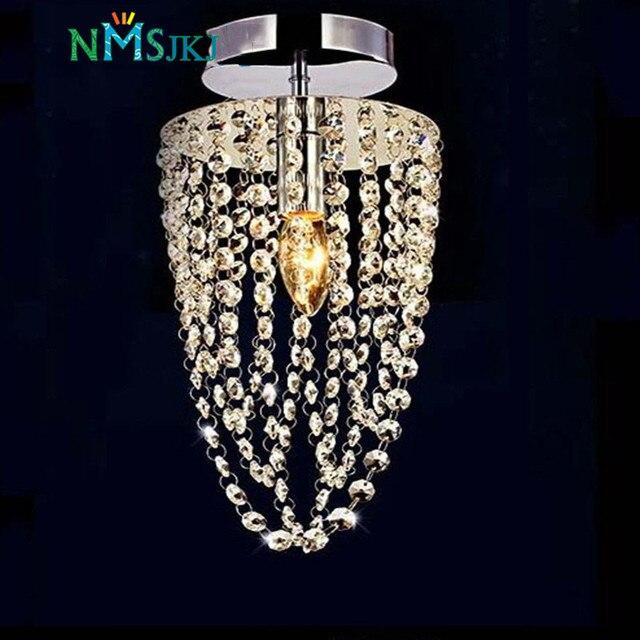 LED 1 Licht Chrom K9 Moderne Kristall Kronleuchter Beleuchtung D16 * H35cm  AC110V 256V