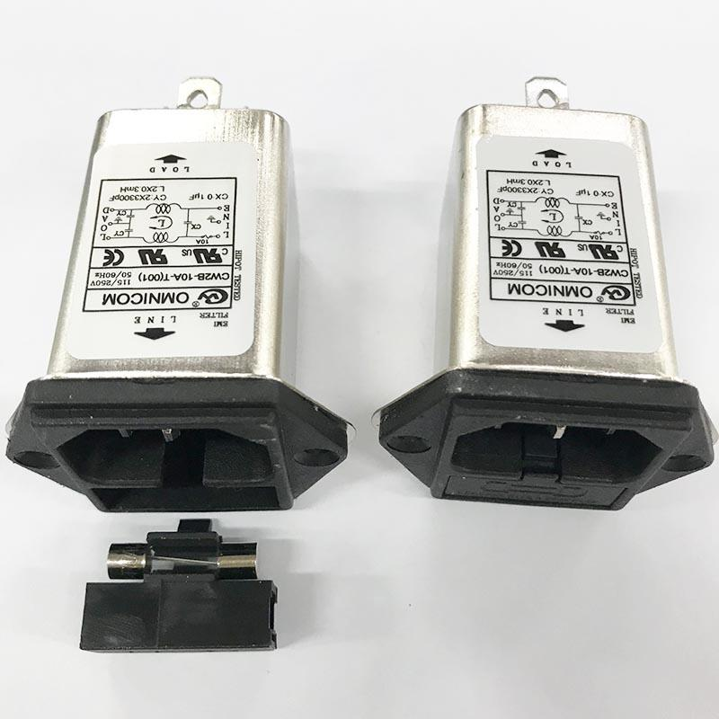 цена на 1pcs CW2B-10A-T AC filter audio power purification 220V anti-interference EMI new DC socket 12V car fever CW
