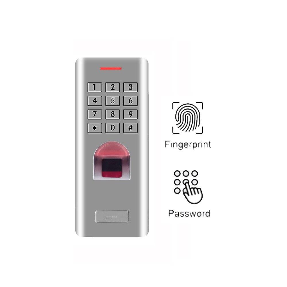 Teclado de huella digital independiente para usuarios IP66 1000 Lector de control de Acceso para el control de acceso del abridor de puerta con cerradura de puerta (sin función RFID) Cerradura electrónica RAYKUBE Wifi con Tuya APP remotamente/huella digital biométrica/tarjeta inteligente/contraseña/desbloqueo de llave FG5 Plus