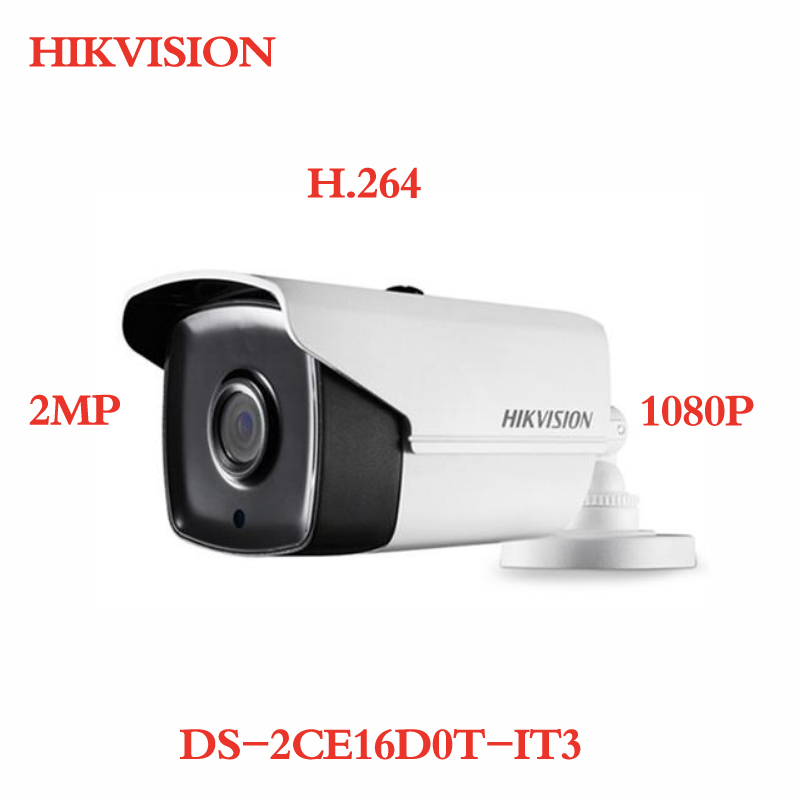 ANXIE Hikvision DS-2CE16D0T-IT3 CCTV Turbo HD TVI Camera 2MP 1080P H.264 With IR Day/night hikvision new english version ds 2ce56d5t vfi cctv turbo hd camera 1080p 2mp with ir day night security video surveillance