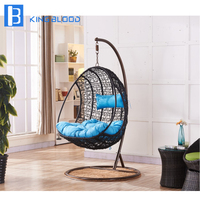 Outdoor Hanging egg chair patio garden swinging chairs