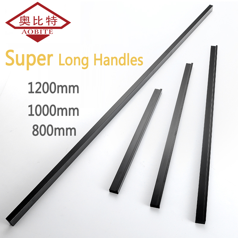 AOBITE черные длинные ручки 1200 мм ручки для шкафа выдвижные ручки для ящика спальни алюминиевая дверная ручка винтажная мебель