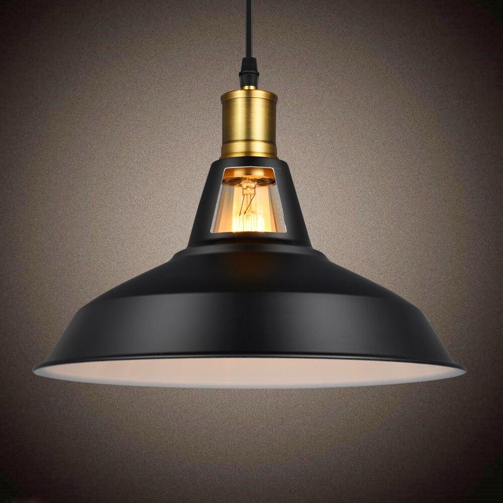 ⊹Rusia vintage colgante de luz negro blanco industrial lámpara ...