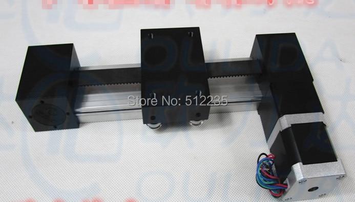 XP 57*56-1500mm timing belt slide module Sliding Table effective stroke 1500mm+1pc nema 23 stepper motor XYZ axis Linear motion belt driven linear slide long travel