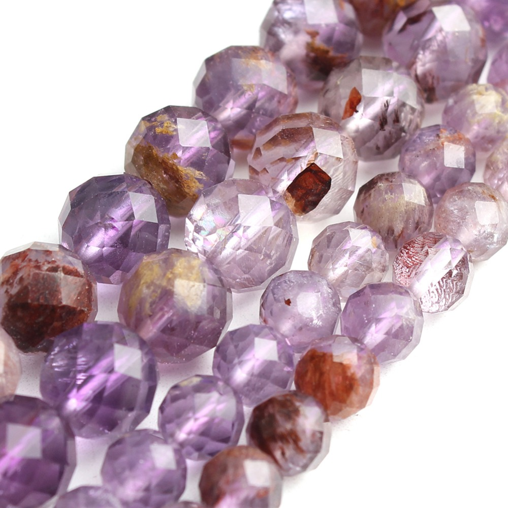 6/8mm 7.5  Faceted Purple Ghost Crystal Round Loose Gemstone Beads Fit DIY Bracelet Necklace For Jewelry Making Wholesale     6/8mm 7.5  Faceted Purple Ghost Crystal Round Loose Gemstone Beads Fit DIY Bracelet Necklace For Jewelry Making Wholesale
