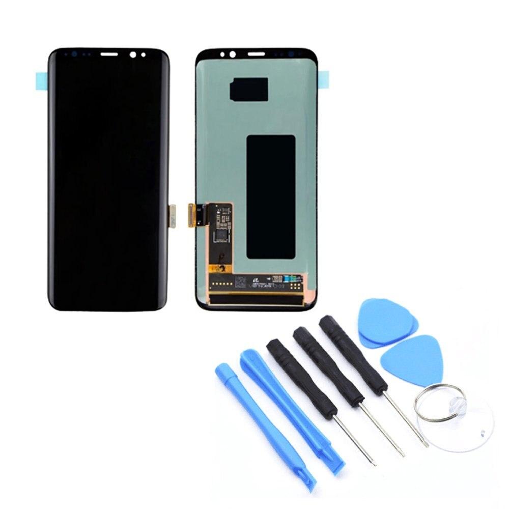 ЖК дисплей Дисплей Сенсорный экран планшета Ассамблеи без рамки Запчасти для мобильных телефонов для samsung S8 S8 плюс Примечание 8 N950F/N95