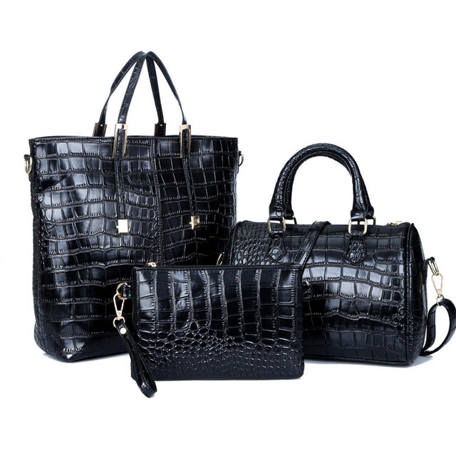 Women Bags Set Pu Leather...
