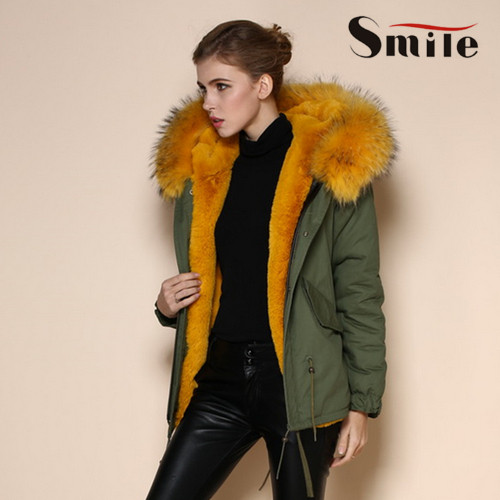 Online Shop 2016 Womens Winter Jacket with Raccoon Real Fur Hood ...