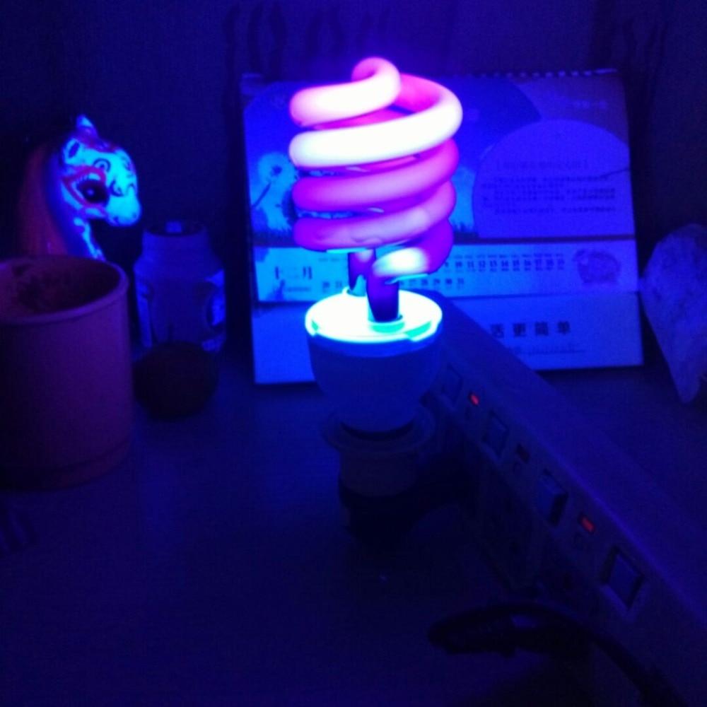 220V E27 Ultraviolet UV Spiral Energy Saving BlackLight ...