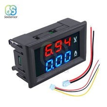 0.28 inch Mini Digital Voltmeter Ammeter DC 100V 10A Current Meter Tester Panel Red Blue Dual LED Display