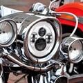"""7 Polegada Preto Harley motocicletas Daymaker Haley LEVOU Farol para Jeep Wrangler 7 """"Led farol Dianteiro de condução kit luz de neblina"""