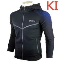 KI Men's Print Car Logo Hoodies Slim Fit Male Zipper Hoodies For Man Cardigan Casual Coat Plus Size Sweatshirts Pullover Jackets