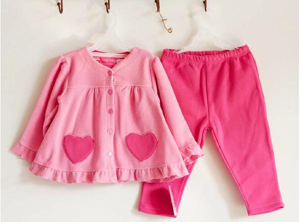 a7455861f5171 Free shipping baby girls outfits girls fleece outerwear cardigan trousers  set cheap clothes online shop girls clothing sets