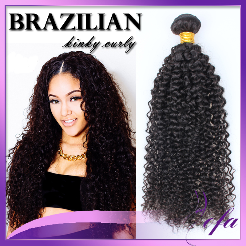 8a grade brazilian kinky curly human hair for black woman