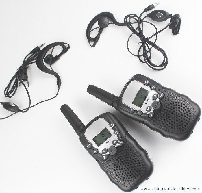 bilder für Neue walkie talkie paar T388 PMR446 mobilfunk comunicador VOX hand-freies talkie funkgeräte w/led taschenlampe kopfhörer ladegerät