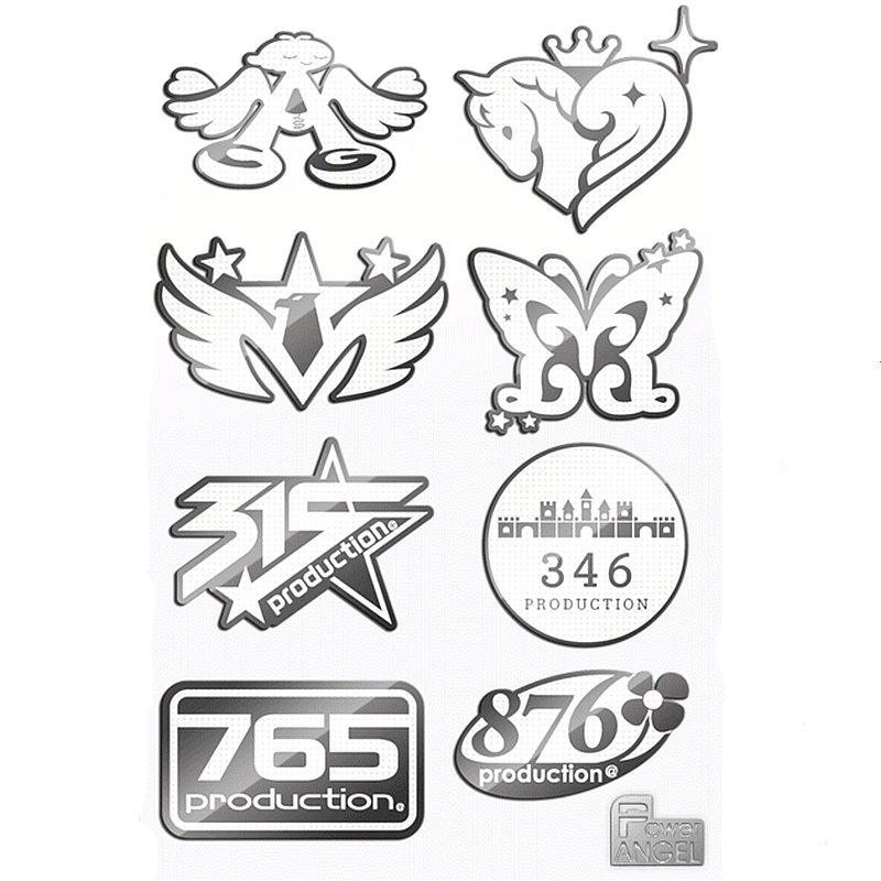 PowerAngel Anime Stickers THE IDOLM STER Sticker Phone Laptop Stickers 3D Metal DIY Kids Decal Stickers