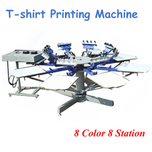 High Quality 8 Color 8 Station T-shirt Screen Printing Machine Comes with Base HD-801