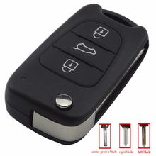 jingyuqin 3 Button Flip Folding Car Key Shell for Kia K2 K5 Sorento Sportage Hyundai Avante I30 IX35 Cover Case Styling