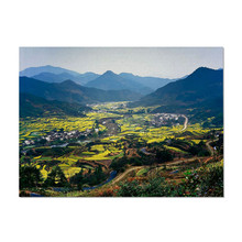 Rural Scenery Pattern Placemat Pad Dining Table Mat Waterproof Heat Insulation Non Slip Placemats Bowl Coaster For Kitchen Table 2019 pu leather placemat oil water resistant heat insulation non slip table mat dish bowl holder pad coaster for kitchen table