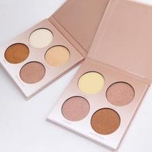 Miss Rose Makeup Brighten Bronzer and Highlighter 4 Colors Shimmer Matte Contour Glow Kit 3D Face