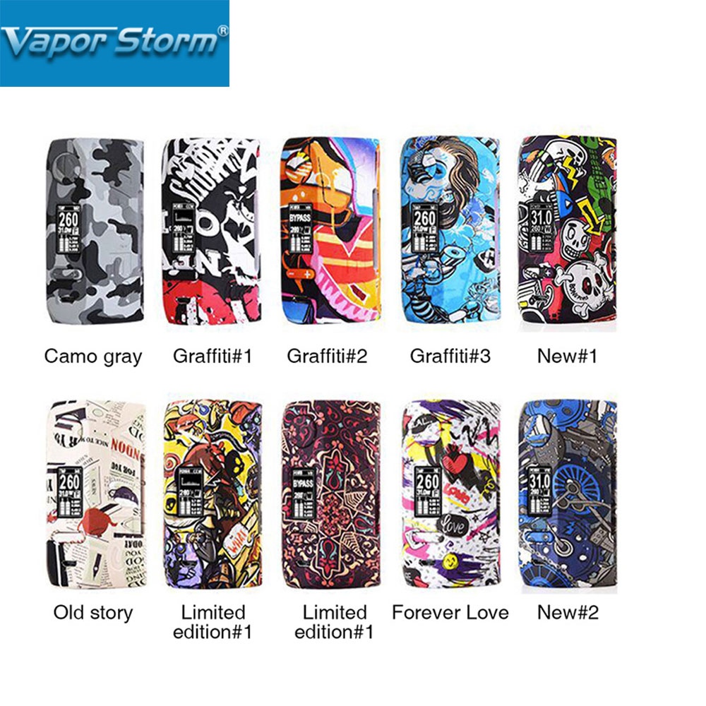 2018 New Vapor Storm230 TC Box MOD 200W Unique Graffiti Body with 0 96 inch OLED