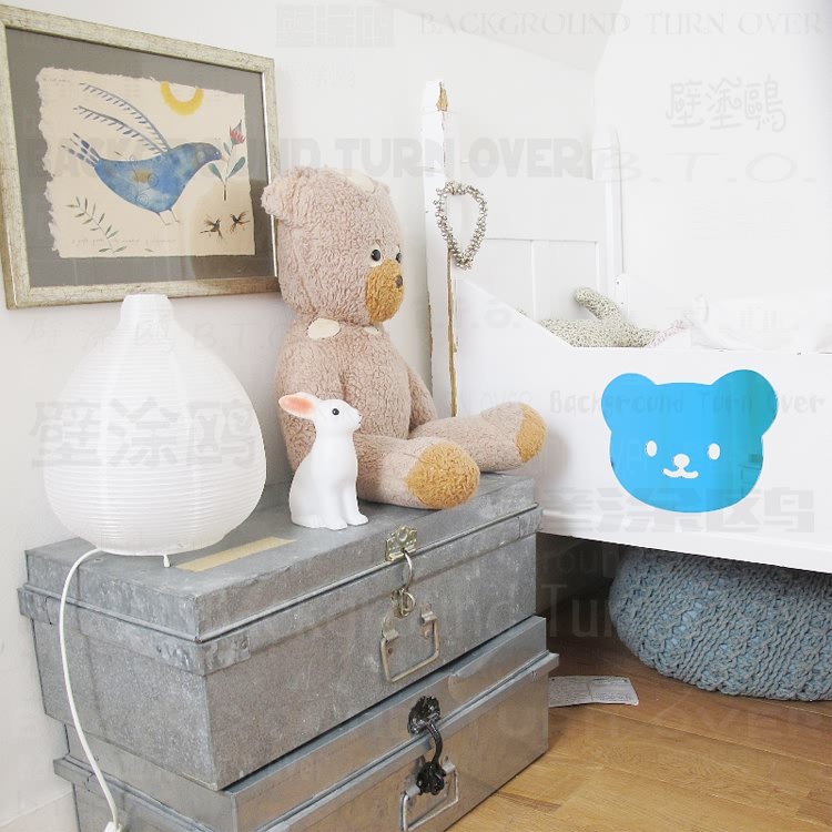 Various Colors Diy Baby Bear Wall Stickers Removable Wall