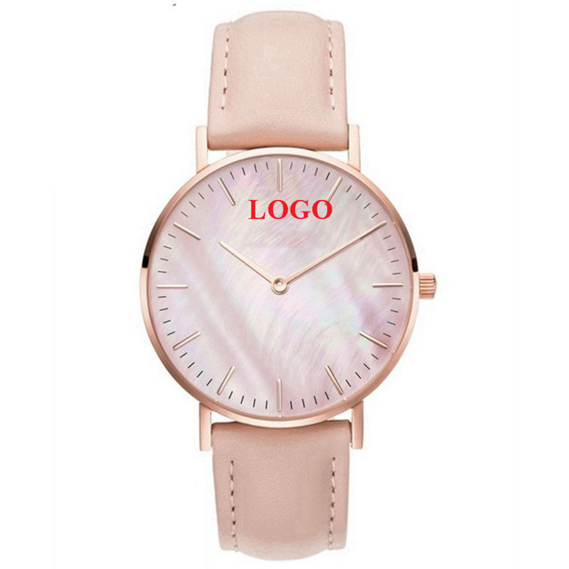 Us 212 0 20 Off Personalized Customization Watches Rose Gold Pink Seas Pu Leather Wrap Bracelet Watch Can Customized Logo Name 50pcs Lot In