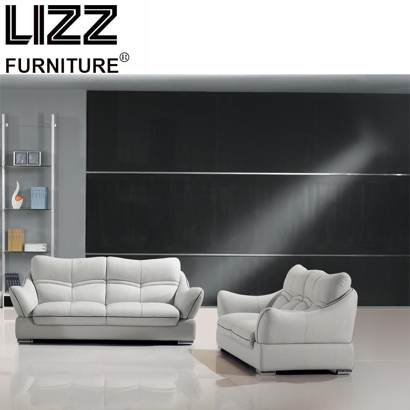 Luxury Furniture Set Genuine Leather Sofas For Living Room Modern Sofa Loveseat Chair
