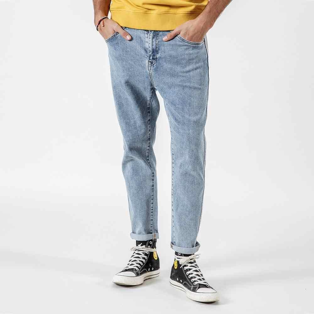 SIMWOOD 2019 Весна Лето Новые джинсы мужские боковой Мужской пуловер джинсы модные высококачественные джинсовые брюки длиной до щиколотки 190033