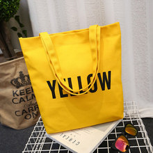 Casual Letters Canvas Shoulder Bags for Women 2018 Totes Women's Handbag Shopping Bags Student Girls Travel Crossbody Bag SD-513(China)