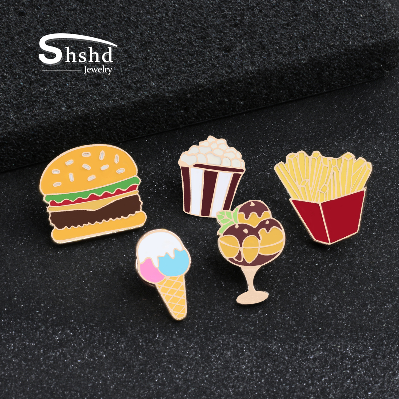 Sundae Ice Cream Enamel Pin Badge Brooch Lapel Pin