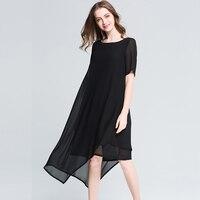 2017 projektowania mody plus size kobiety szyfonowa asymetryczne sukienki letnie kobiety wysokiej i niskiej szyfonowa długa sukienka czarny/wine czerwony