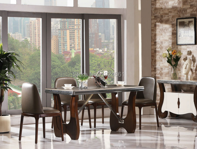 Meuble Dining Room Set Sets Moveis Antigos Para Sala Wood Carvings Furniture No Special Offer Time-limited Wooden Dinning 8096  цены