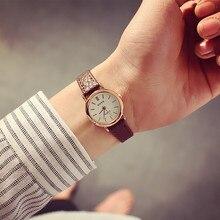 Korean fashion simple retro small round belt watch students watches small fresh temperament WristWatch