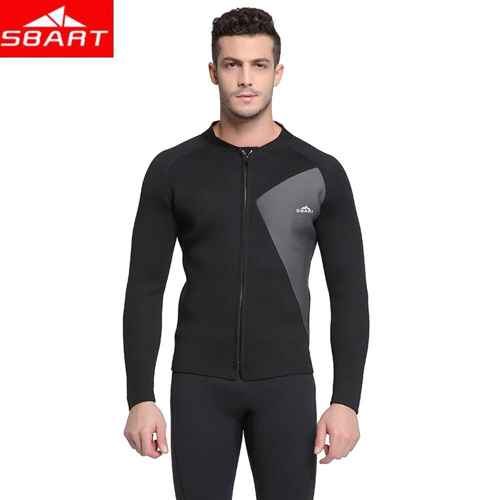 2019 nouveau Sbart 3mm néoprène hiver combinaison veste hommes éruption garde plongée sous-marine nageur surf plongée en apnée maillot de bain hauts