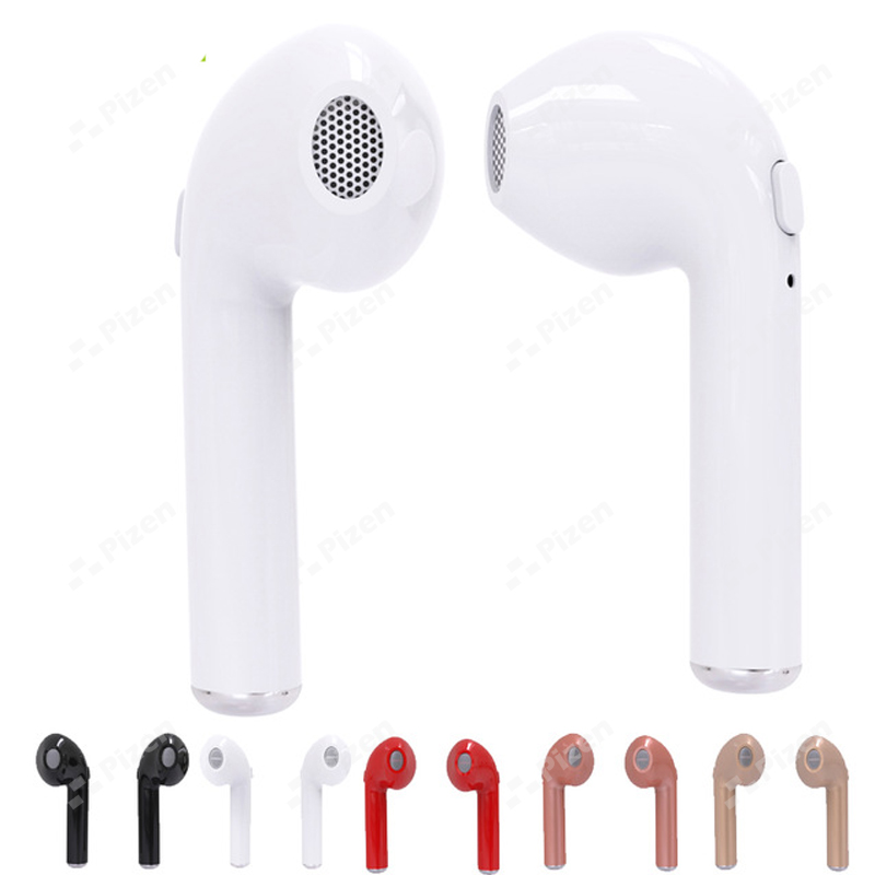 PIZEN HBQ i7 TWS Twins Wireless Earbuds Bluetooth V4.2 Stereo Headset earphone For Iphone 7 8 x plus 7 6s 6 SE Galaxy S8 Plus LG hbq i7 tws wireless earphone bluetooth headset in ear invisible earbud with mic for iphone 7 plus 8 6 6s 5 s 5s samsung s8 note8