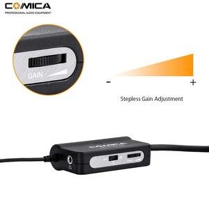 Image 4 - Comica AD1 Preamplificatore Microfonico XLR a 3.5mm Audio Adapter XLR a TRS/TRRS Adattatore per DSLR Fotocamere Videocamere E Smartphone