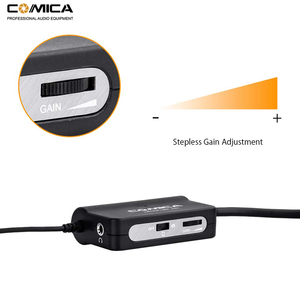 Image 4 - Comica AD1 przedwzmacniacz mikrofonowy XLR do 3.5mm Adapter Audio XLR do TRS/TRRS Adapter do lustrzanki cyfrowe kamery i smartfony