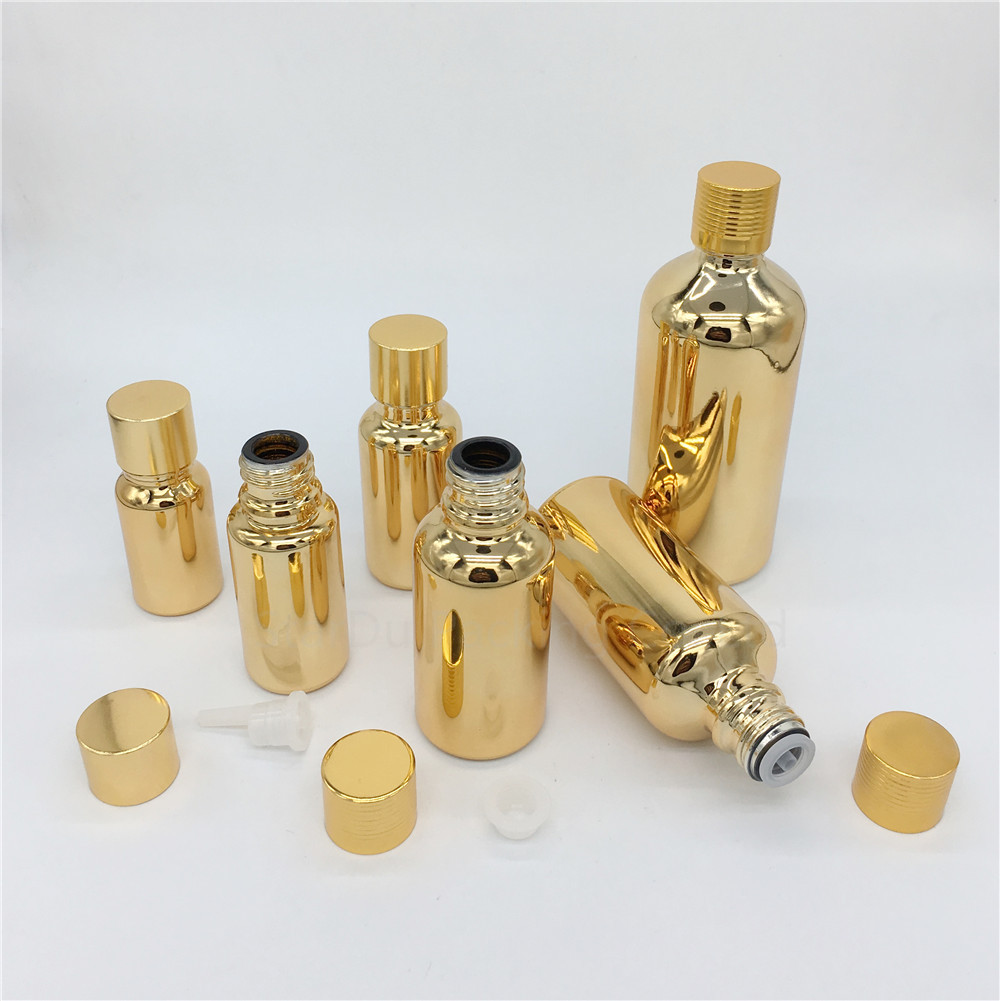 10ml 15ml <font><b>20ml</b></font> 30ML 50ml 100ml Perfume <font><b>bottle</b></font> gold <font><b>Glass</b></font> <font><b>Bottle</b></font> <font><b>Vials</b></font> Essential Oil <font><b>Bottle</b></font> <font><b>with</b></font> <font><b>screw</b></font> <font><b>cap</b></font> plug image