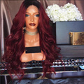 Density 150 Ombre Red Human Hair Wigs Glueless Full Lace Wigs Brazilian Virgin Hair 1B# Roots Red Human Hair Lace Front Wig