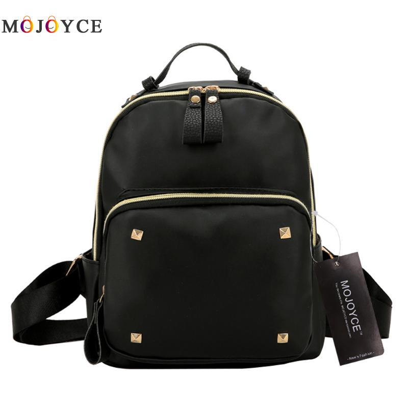 2017 Fashion Waterproof Women Backpack Rivet Black Leather Backpack High Quality College Wind Backpack for Teenage Girl декор monopole veronica tea cup crema brillo 10x40