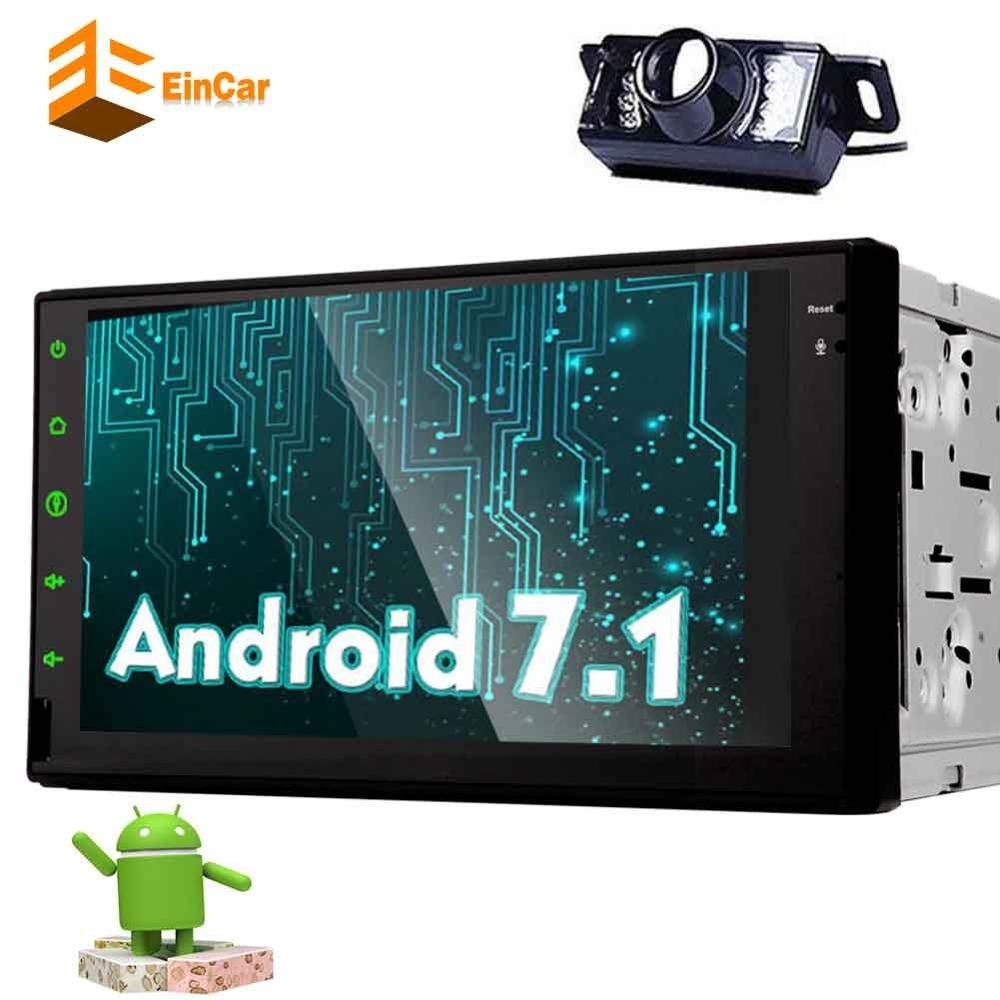 Android 7 1 car audio capacitive touch screen 2 din radio Bluetooth GPS font b multimedia