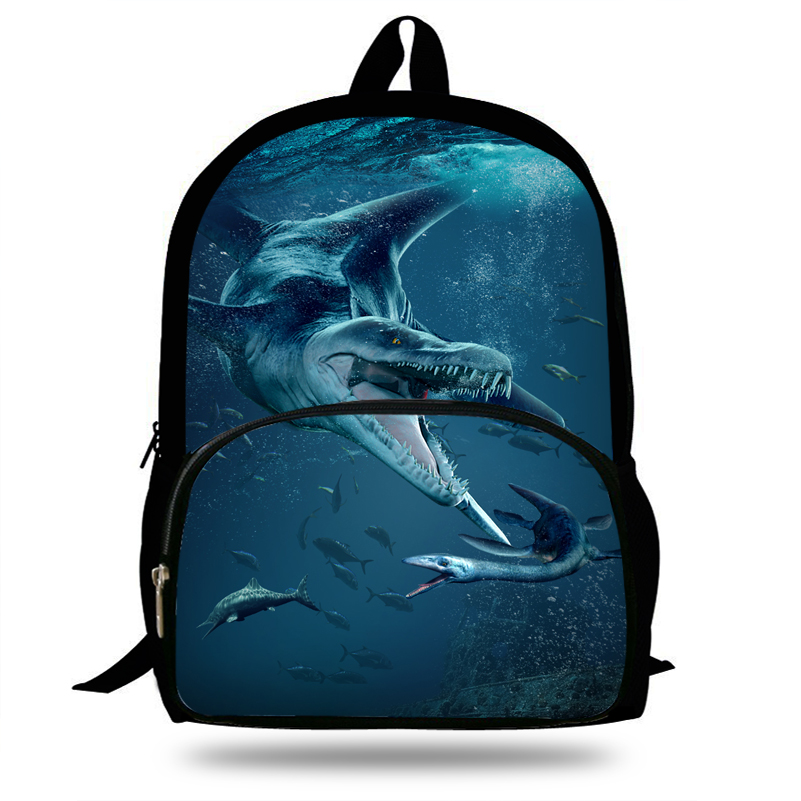 Image 2 - 16 inch Popular Animal Printing Backpack For Kids Jurassic World Fallen Kingdom Bags For Girls Boys Children School-in Backpacks from Luggage & Bags