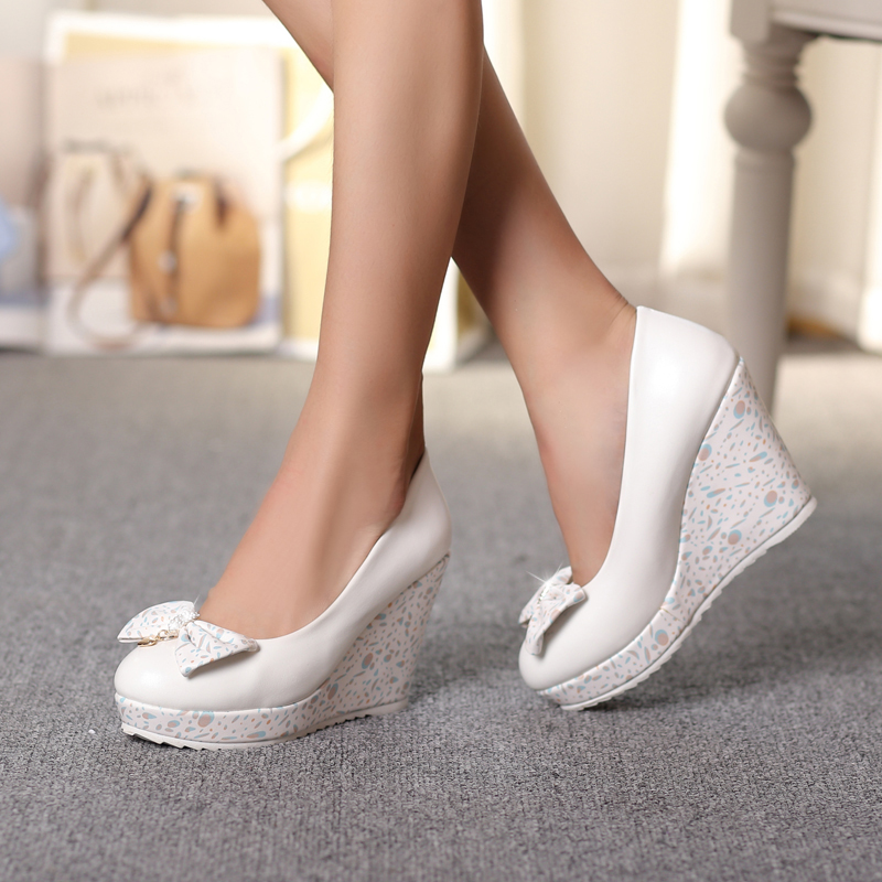 White Heels Bow Promotion-Shop for Promotional White Heels Bow on ...
