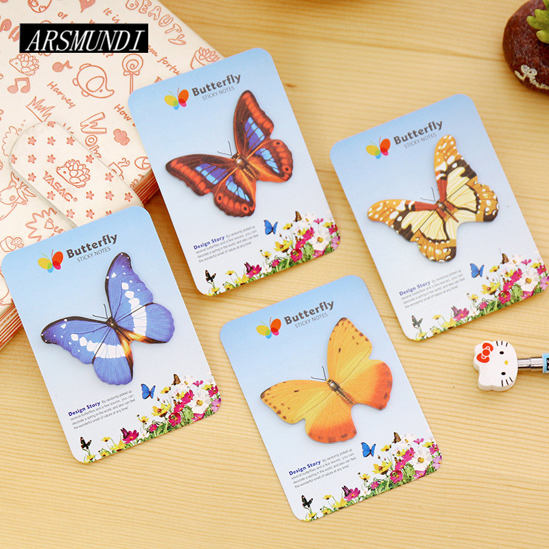 Kawaii Butterfly Planner Stickers Post it Scrapbooking Sticky Notes Memo Pad Notepad For Office Cute Stationery Papeleria