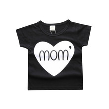 2017 Children Clothing Summer Baby Girls Boys T-shirt Cotton Tees Letter Printed Kid's Graphic Tee Beauty Kids Top
