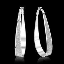 Estilo del verano fine silver plated pendientes 925-sterling-silver belleza de la joyería de los pendientes del aro para para SE461